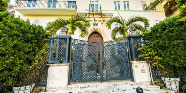 Miami, USA - July 31, 2013: Versace mansion. In 1997 the world gasped as Gianni Versace was shot to death on the doorstep of his Miami South Beach mansion in Miami, USA.